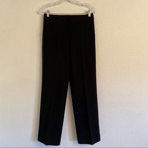 St. John black straight leg pants size 4